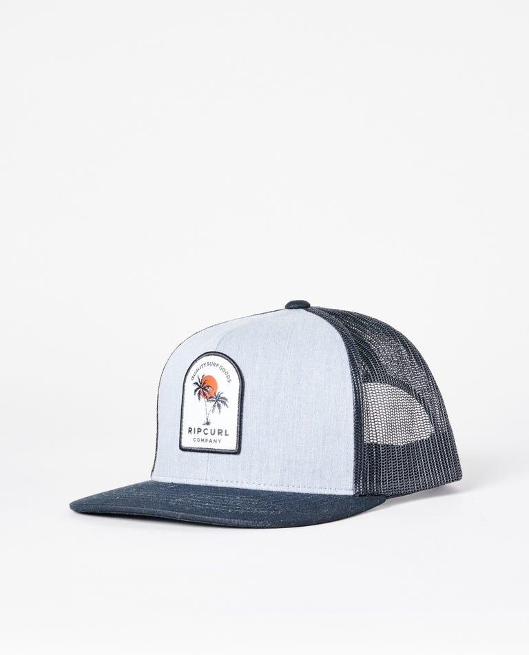 Custom Trucker Hat in Black/Grey