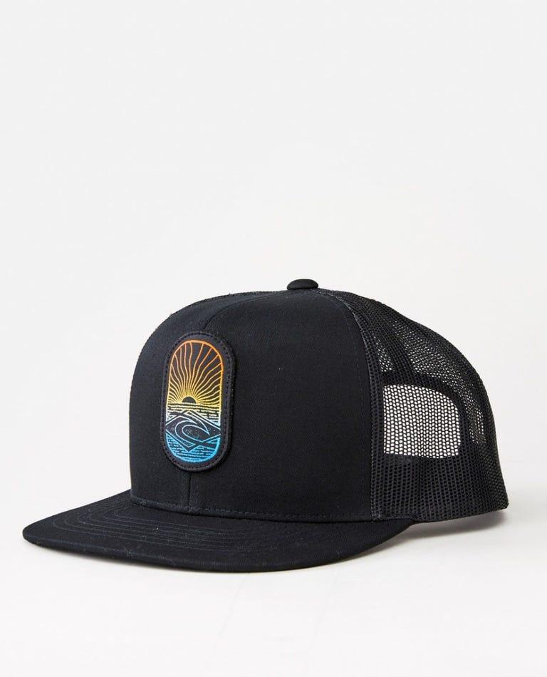 Custom Trucker Hat in Black/Blue