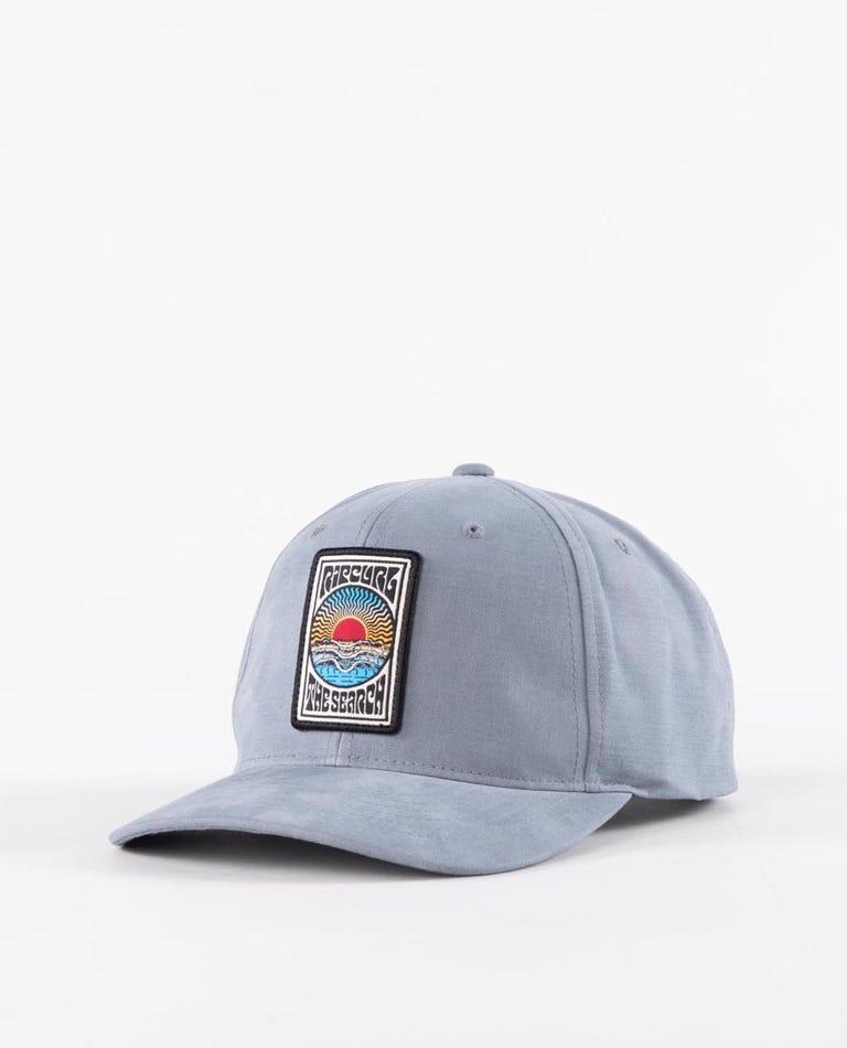 Custom Snapback in Dusty Blue