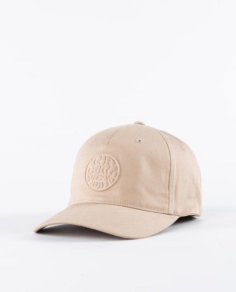 Wettie Deboss Flexfit Hat in Khaki