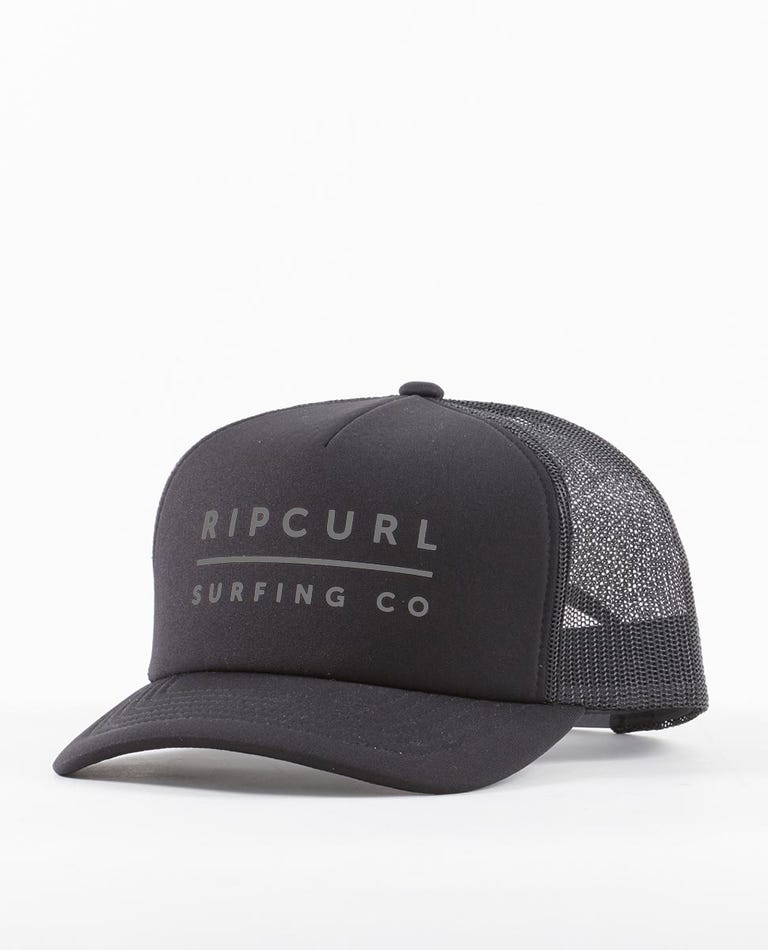Valley Logo Trucker Hat in Black