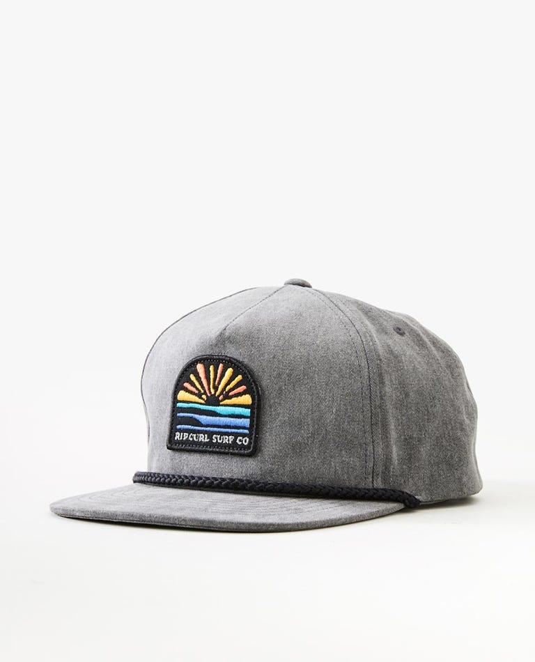 Horizon Snapback Cap in Black