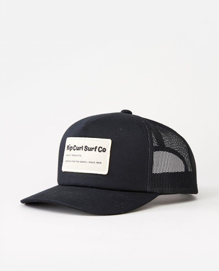 Saltwater Culture Trucker in Black