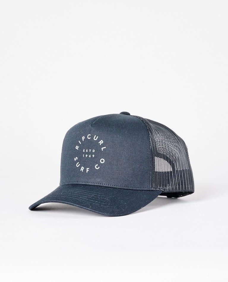 Re Entry Logo Trucker Hat in Black