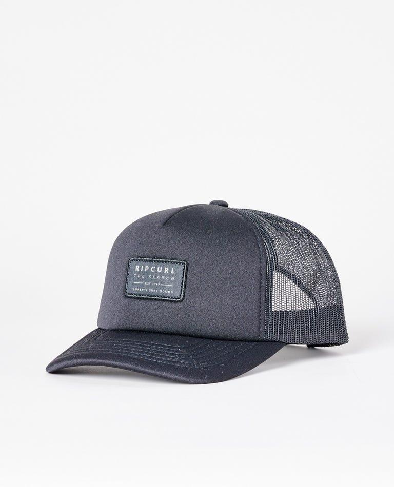 Crusher Trucker Cap in Black