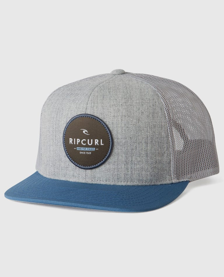 Routine Trucker Hat in Blue Grey