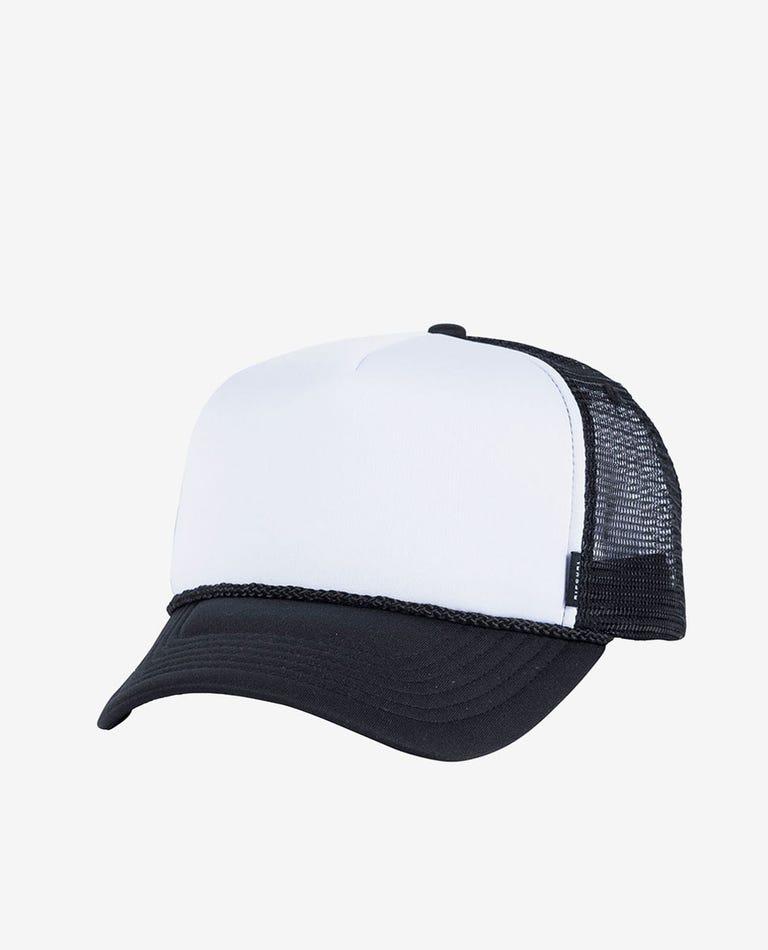 Plain Trucker Cap in Black/White