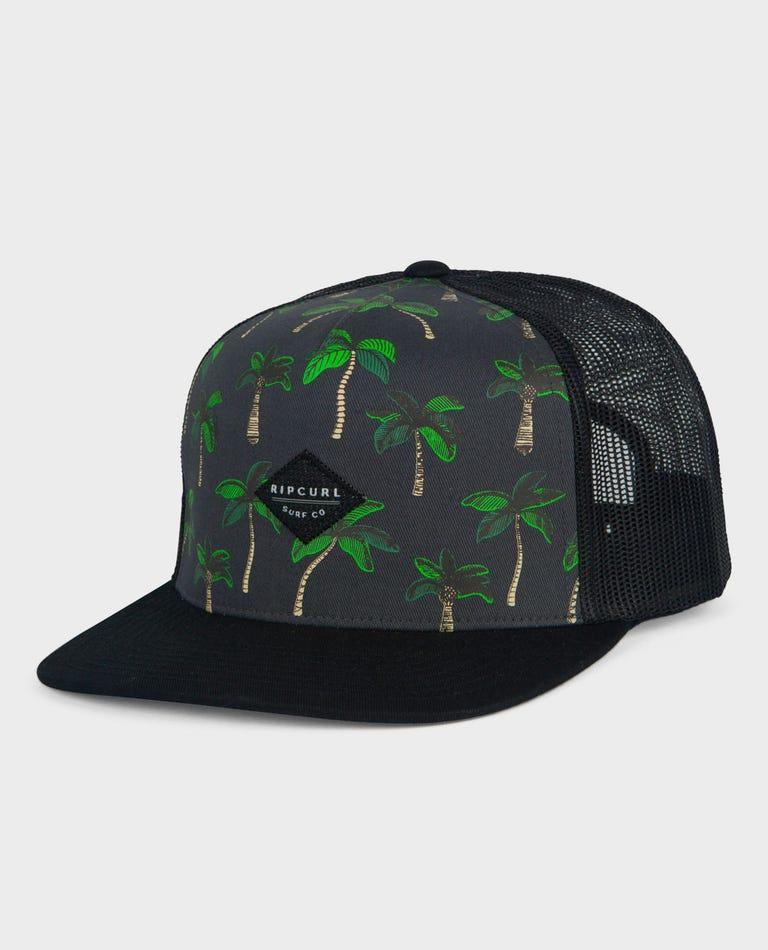 Palma Trucker Hat in Black