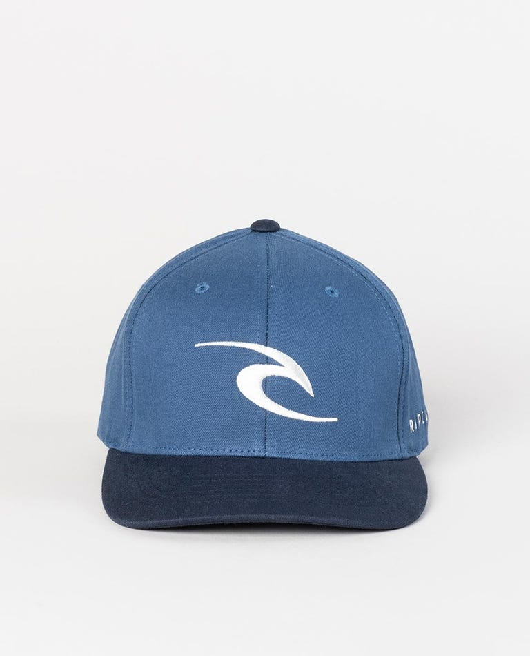 Tepan Curve Peak Cap in Navy