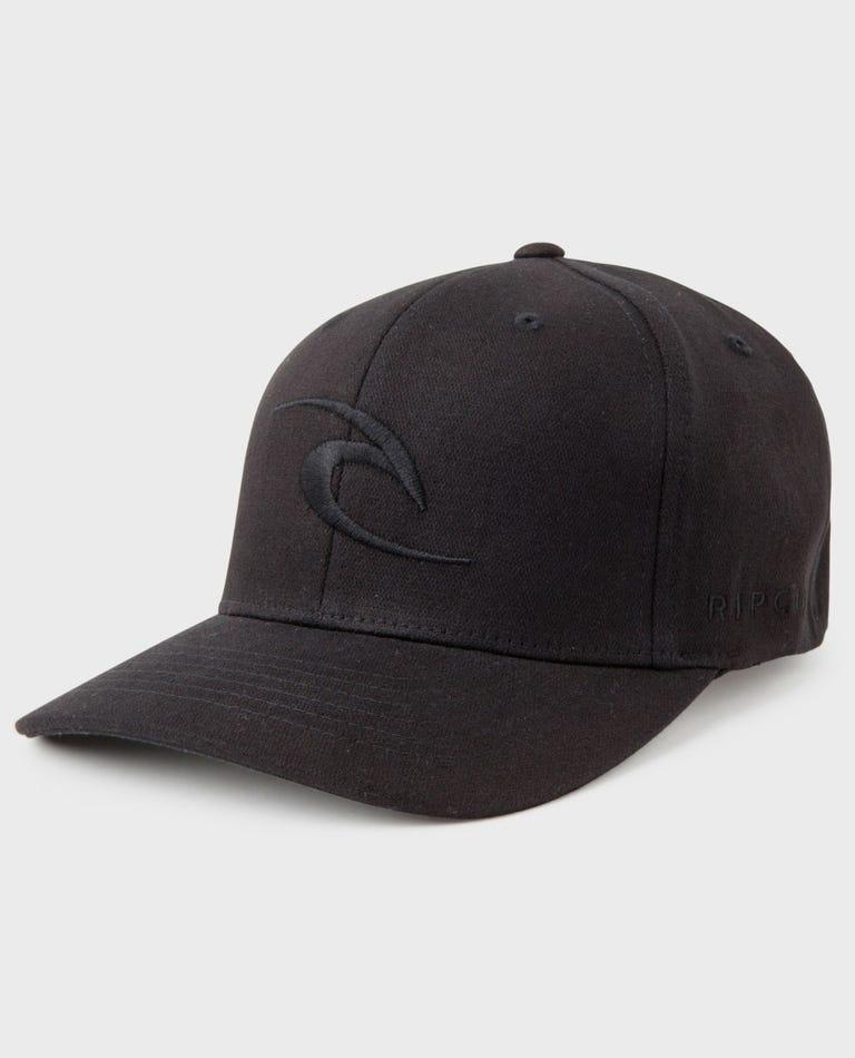 Tepan Curve Peak Cap in Black