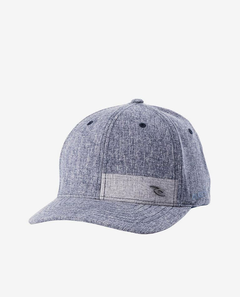 Reflection Curve Peak Cap in Navy