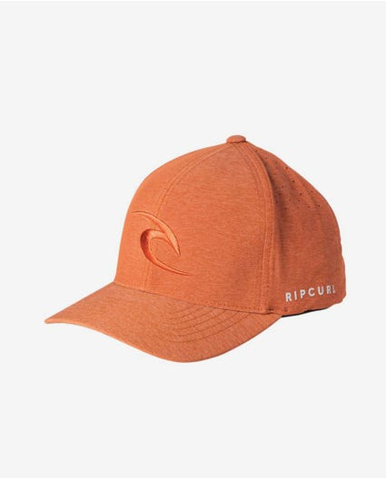 Phase Icon Curve Peak Cap in Red