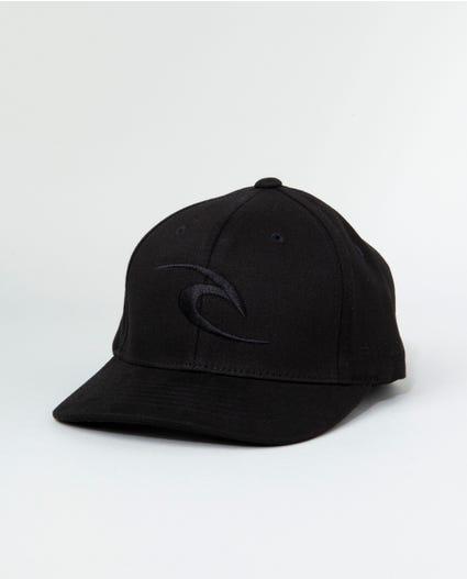 Phase Icon Curve Peak Cap in Black