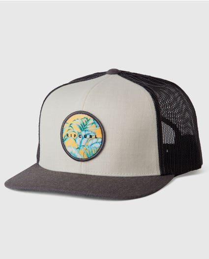 Island Spirit Trucker Hat in Bone