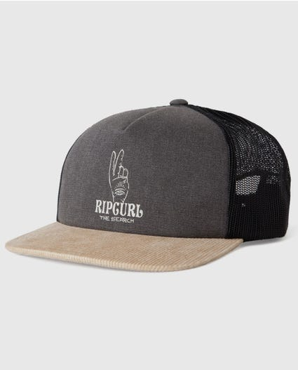 Wavey Gravy Trucker Hat in Charcoal