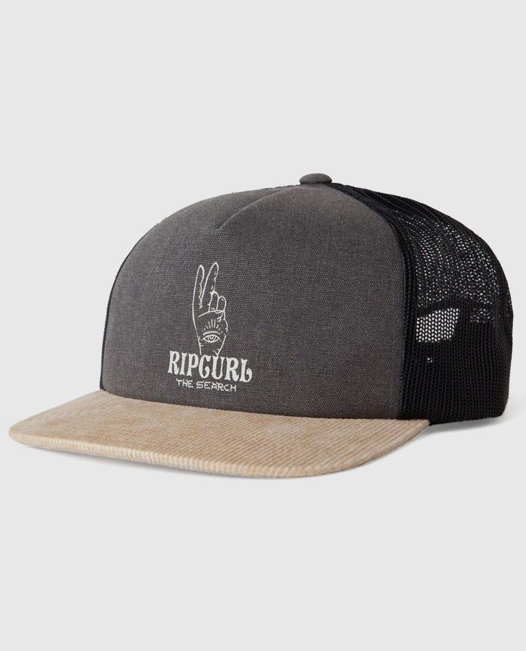 Wavey Gravy Trucker Hat in Charcoal