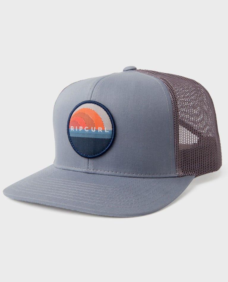 Glass-off Trucker Hat in Grey