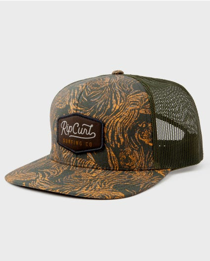 Palm Cruise Trucker Hat in Black