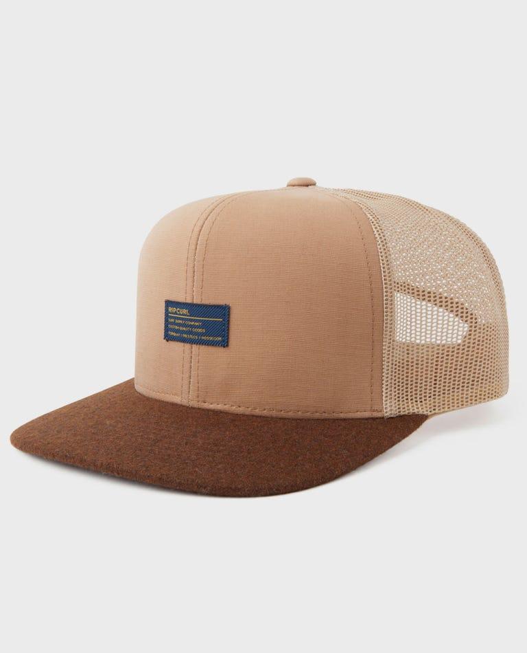 Hanson Trucker Hat in Tan