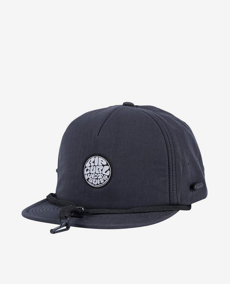 Wetty Surf Cap in Black