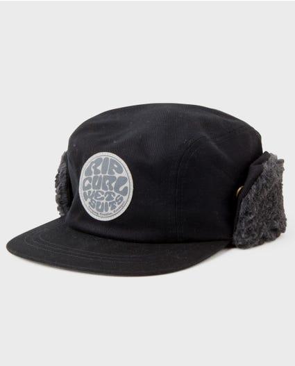 Thurso Trapper Hat in Black