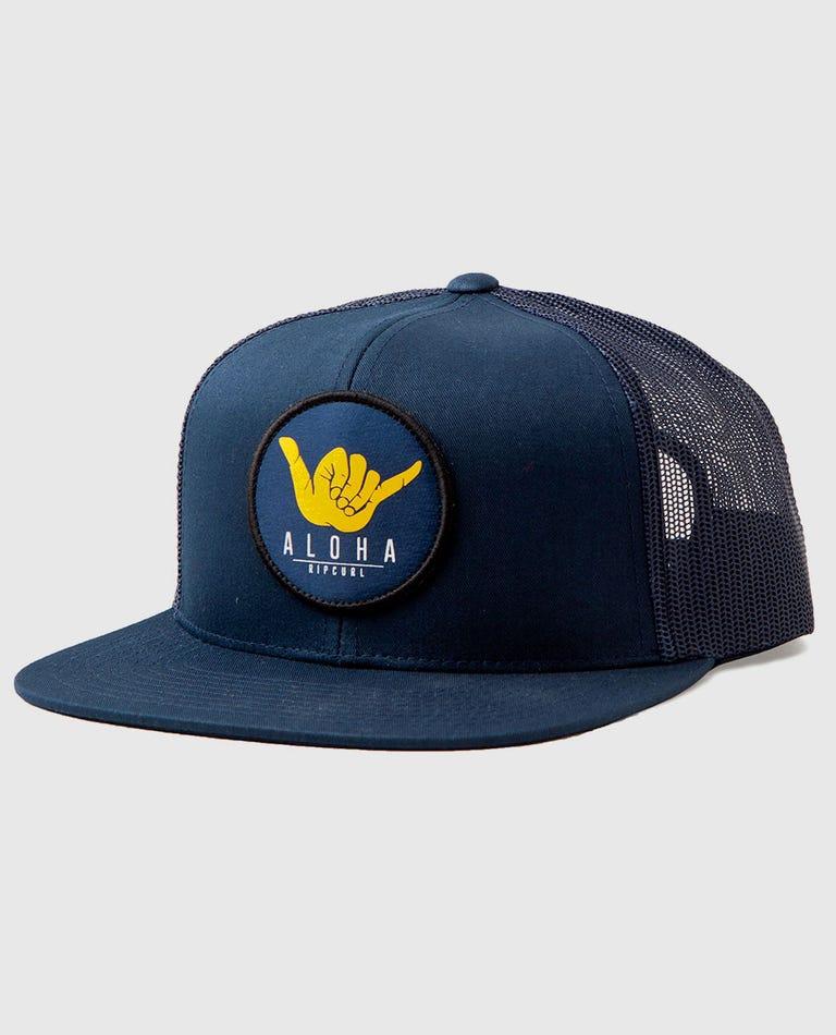 Shaka Trucker Hat in Navy