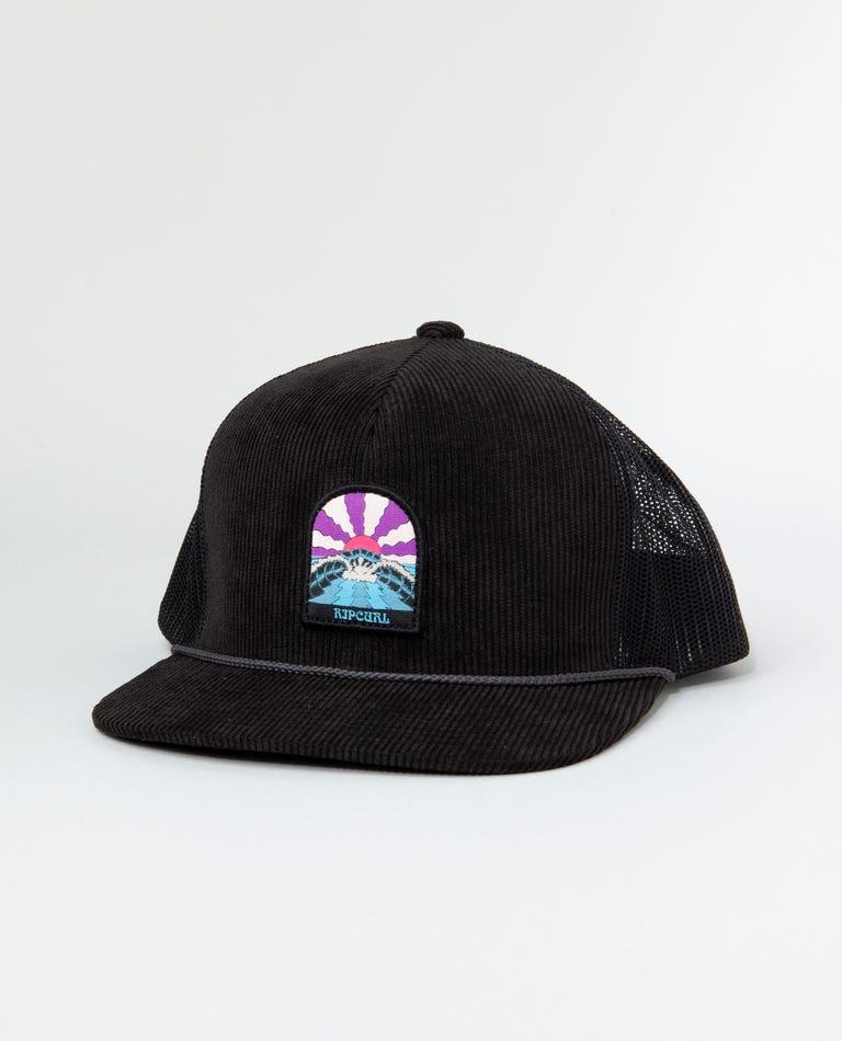 Sundrenched Evo Trucker Hat in Black