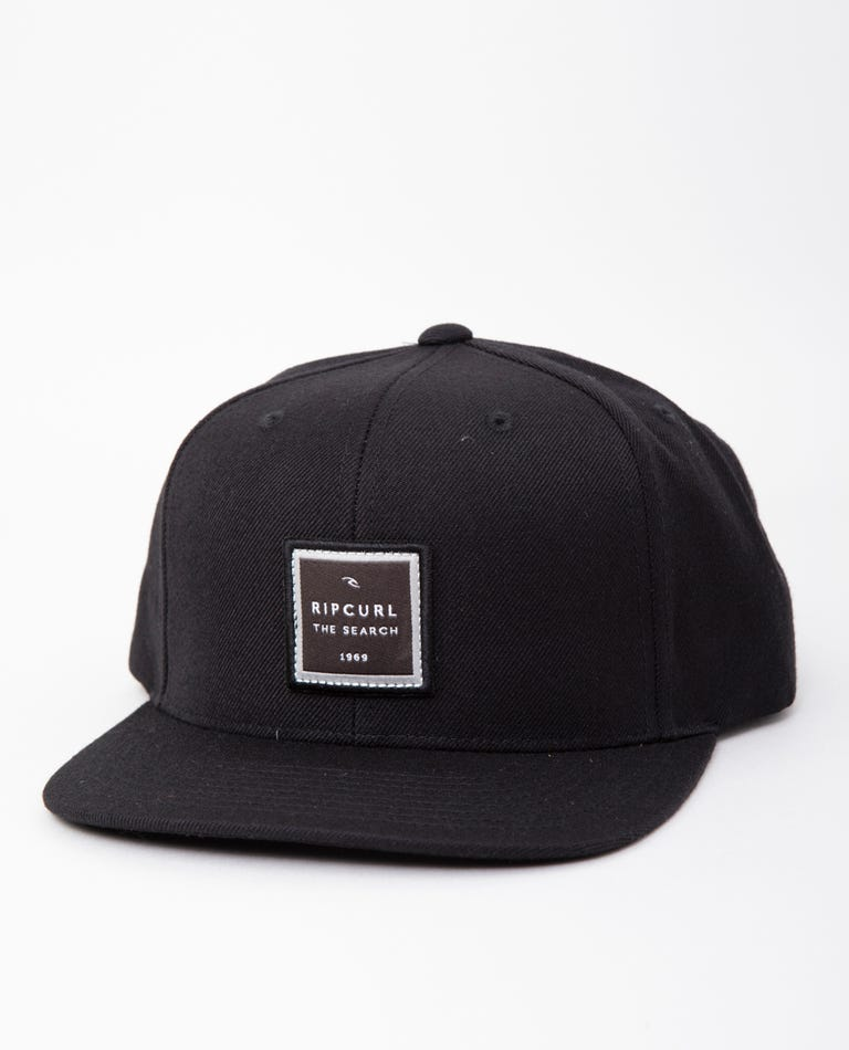 Valley Square Snapback in Black