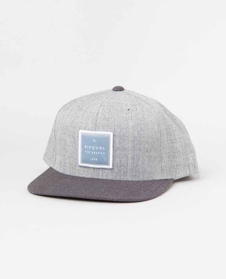Valley Square Snapback in Grey