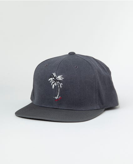 Velzy Palm Snapback in Charcoal