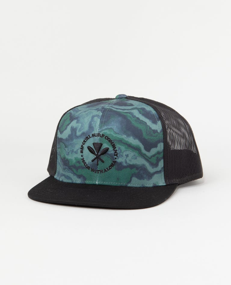 Aloha Vibes Trucker Hat in Camo