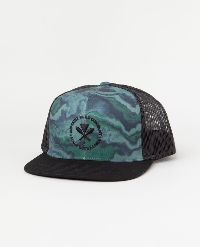 Aloha Vibes Trucker Hat in Camo