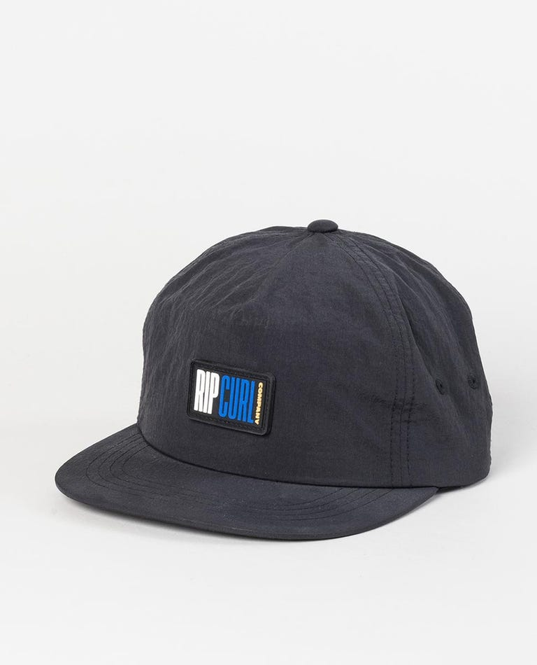 Beach Street Snapback Cap in Black