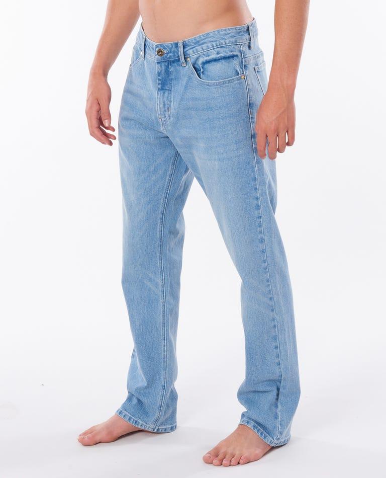 Straight Salt Blue Pants in Salt Blue