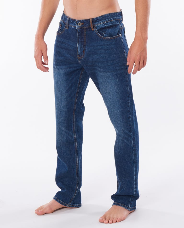 Straight Tidal Blue Pants in Tidal Blue