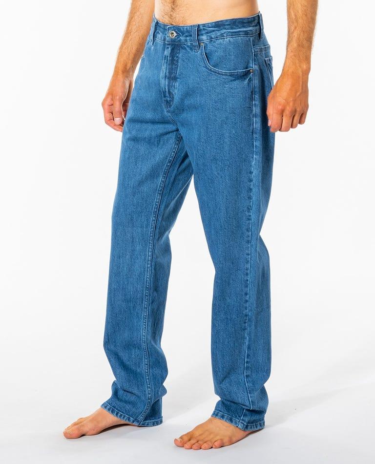 Epic 5 Pocket Denim Pant in Denim Blue