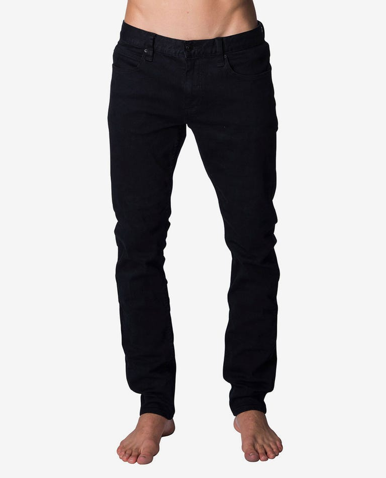 Slim Salt Black Denim in Salt Black