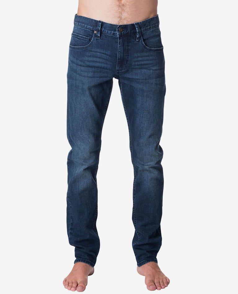 Slim Tidal Blue Denim Jeans in Tidal Blue