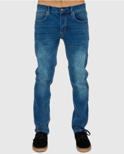 Slim Salt Blue Denim in Blue