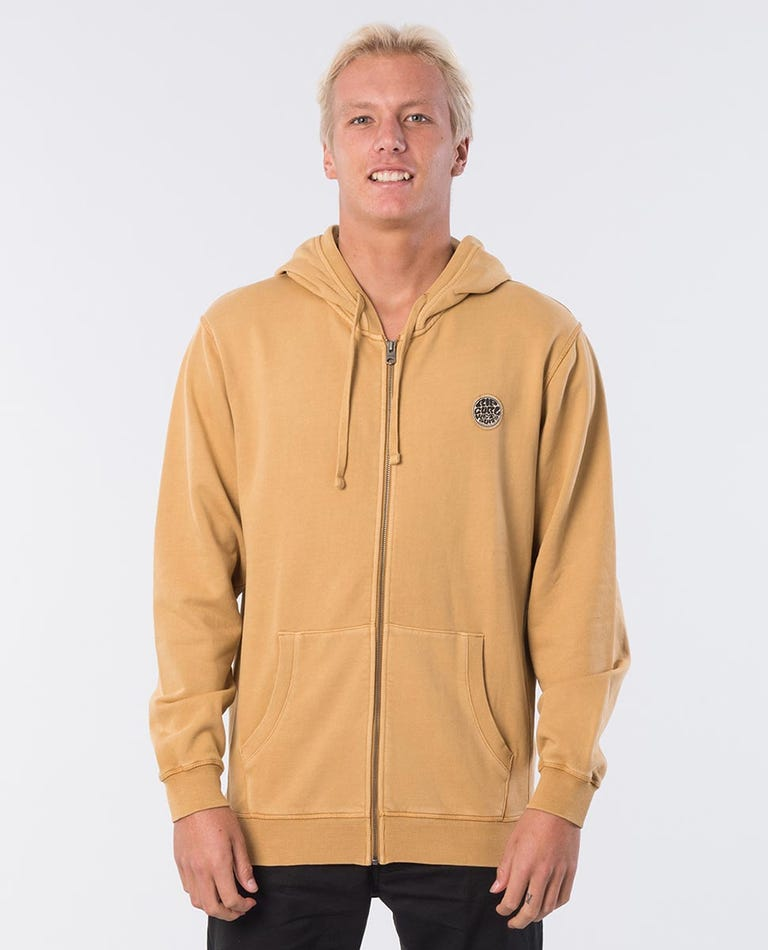 Original Surfers Cotton Hooded Jacket in Mustard