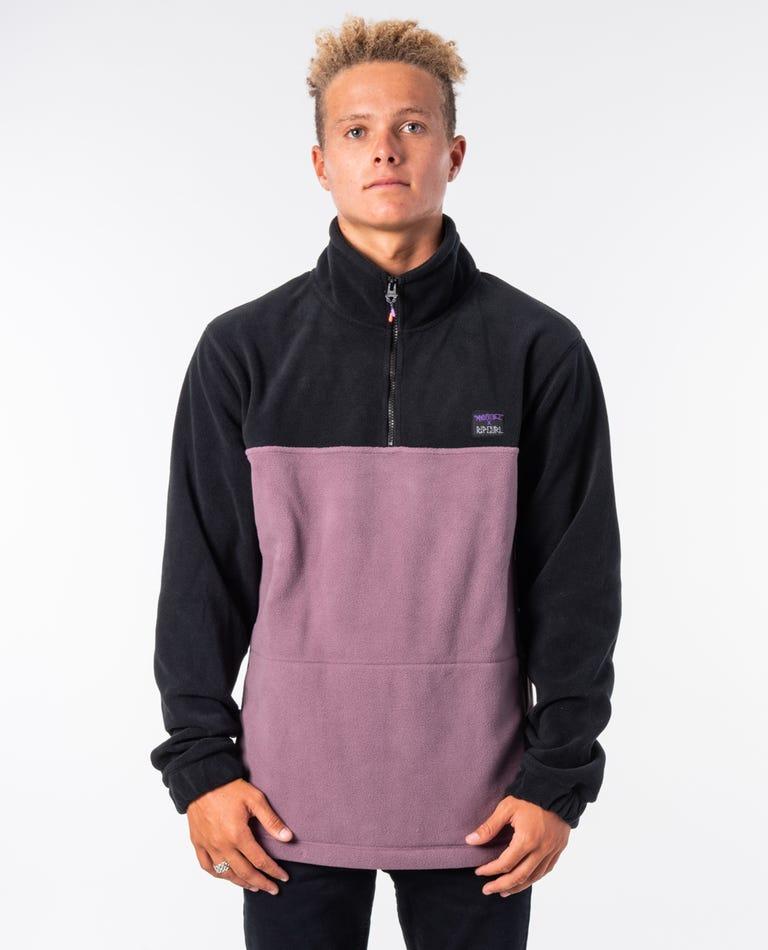Bathouse Polar Zip Crew in Purple