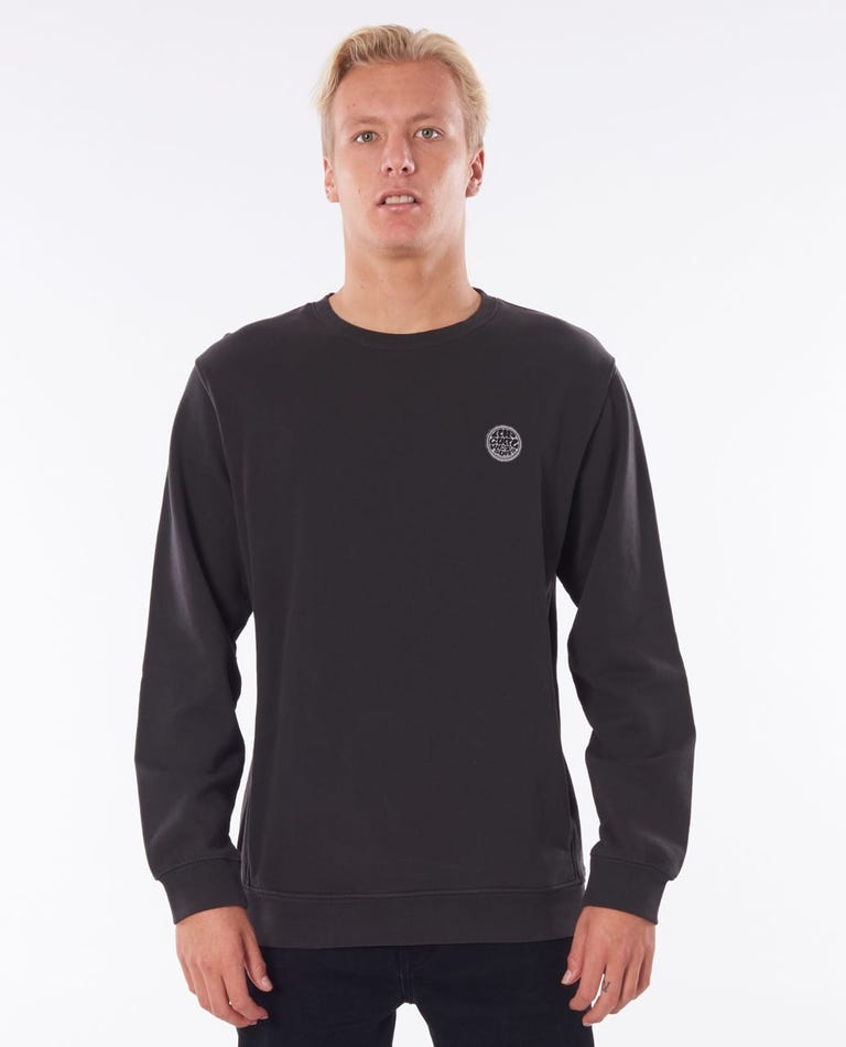 Original Surfers Crew in Washed Black