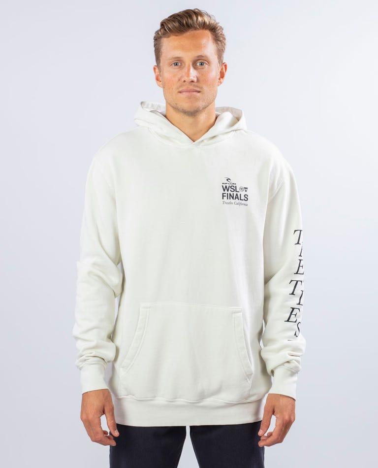 Trestles Destination Pullover Hood in Off White