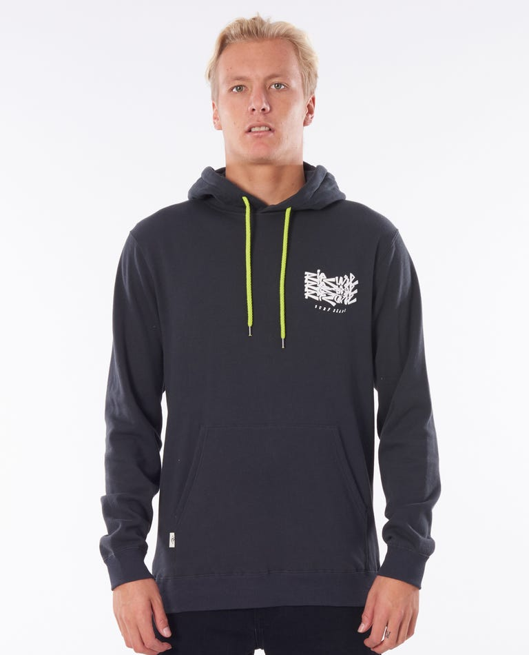 Surf Heads Hood in Washed Black