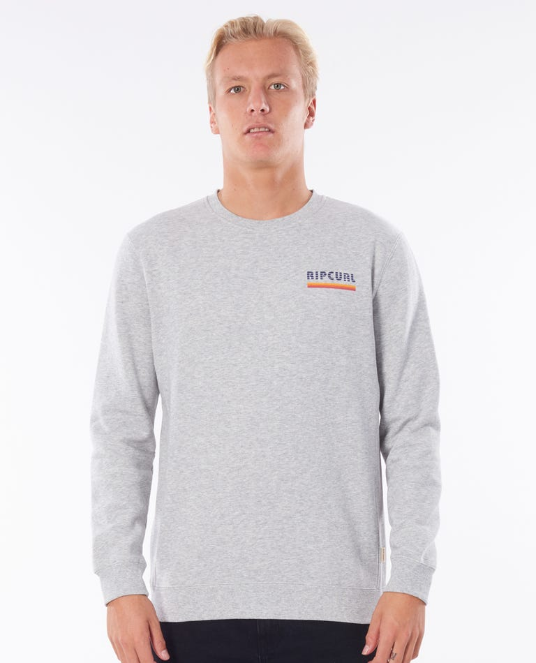 Surf Revival Crew in Athletic Heather