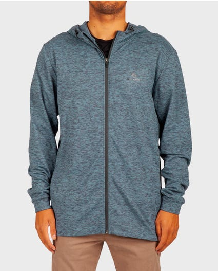 Arc Vapor Cool Zip Up Sweatshirt in Blue Grey