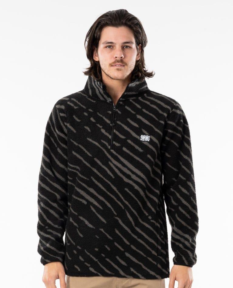 Mind Waves Polar Fleece in Black