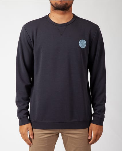 Palms Vapor Cool Long Sleeve Crew in Blue Grey