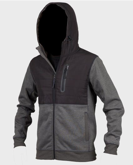 Interblock Anti-Series Zip Up Hoodie in Black