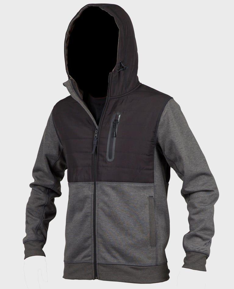 Interblock Anti-Series Zip Up Hoodie in Black